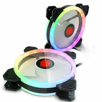 120mm Computer Case RGB Cooling Fan Adjust LED Cooler Remote Control LoT AZ