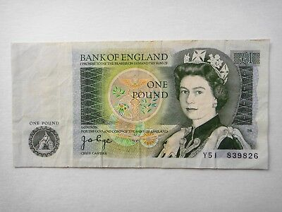 Uk Great Britain  Old £1 Pound  Bank Of England   Circulated Note   #1
