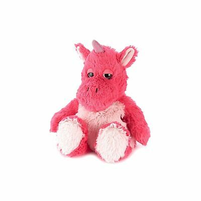 Warmies Unicorn Bright Pink Heatable Plush Animal Microwaveable Soft Reusable