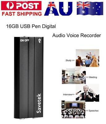 Mini Spy Audio Recorder Voice Activated Listening Device 90 Hours 16GB Bug