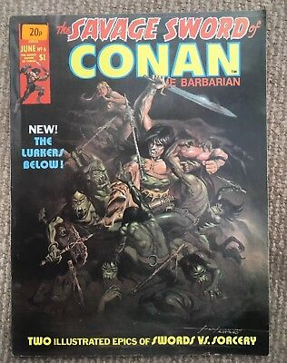 The Savage Sword Of Conan June 1975 Vol 1 No 6 Good Condition.