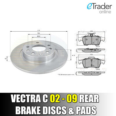 VAUXHALL VECTRA C ESTATE 1.9 CDTi 2003-2009 FRONT 2 BRAKE DISCS AND PADS SET NEW