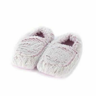 Warmies Slippers Pink Marshmallow Microwaveable Warm Fluffy Adult UK Size 3-7