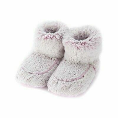 Warmies Slipper Boots Pink Marshmallow Microwaveable Fluffy Adult UK Size 3-7