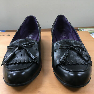 b7f9d925f0dc87 Hotter Comfort Concept Ladies Black Leather Shoes Slip On Loafers Size 6 In  Box