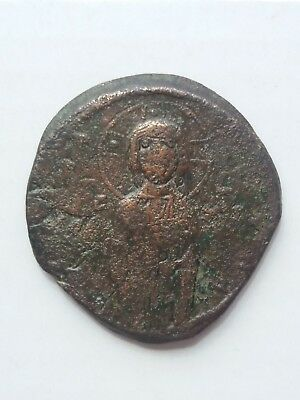 Byzantine coin bronze.. Anonymous Follis Class C.(Michael IV).
