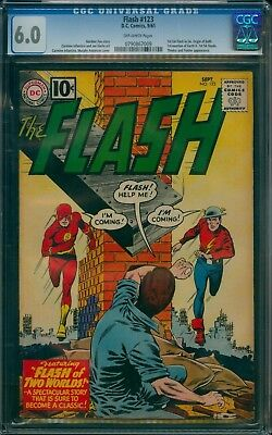 Flash 123 CGC 6.0 OW pages, Flash of Two Worlds!