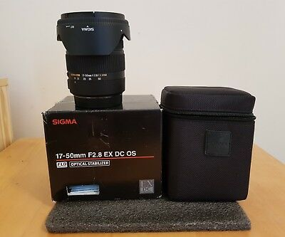 Sigma 17-50mm F2.8 EX DC OS HSM Lens - Canon Fit <<MINT CONDITION>>