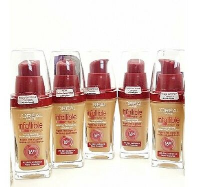 L'Oreal Infallible 16hr Foundation Long Lasting Liquid Make Up 6 Shades Variety