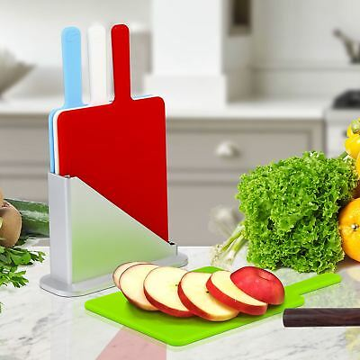 Symbol Colour Coded Mini Index Chopping Board Set 4 Cutting Boards + Stand