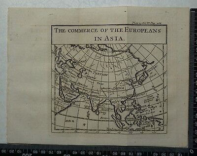 1776 Pluche - Engraving of the Commerce of the Europeans in Asia map