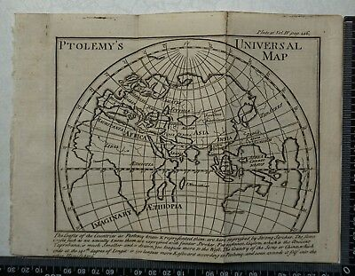 1776 Pluche - Engraving of Ptolemy's Universal Map