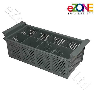 Cutlery Holder Plastic Basket Eight Compartment for Commercial Dishwasher, Grey