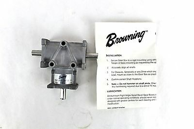 "Browning Gear Reducer 3/8"" 2:1 Ratio Right Angle Bevel LR Output 3ARA2-LR20"