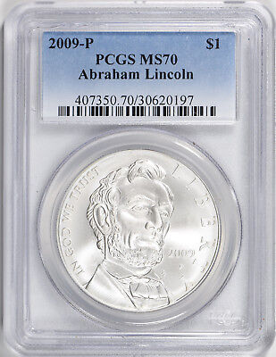 2009-P Lincoln Silver Commemorative Dollar - PCGS MS-70 - Mint State 70