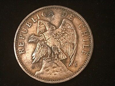 T2: World Coin Chile 1927 Silver Peso