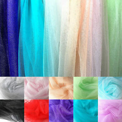 Soft Sparkly Stretch Mesh Fabric Sheer Net Tulle Wedding Veil Party Dress ZAIONE