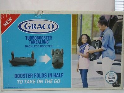 NEW - Graco TurboBooster TakeAlong Backless Booster Car Seat - Jacks - 5109