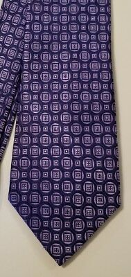 DOCKERS Blue Purple Silk Executive Stain Resistant Necktie Tie 58-1/2 x 3-3/4