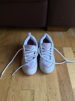 Girls Size 3 Pink And White Heelys