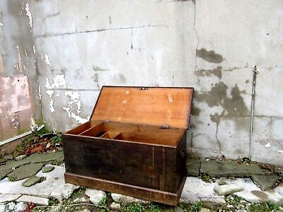 Antique Wooden Chest - Large Blanket Box / Coffee Table