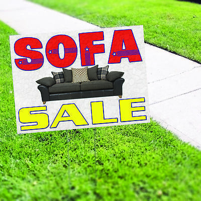 Sofa Sale Furniture Leather Couch Banner Sign Retail Store