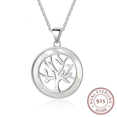 Ladys 925 Sterling Silver Tree of Life Pendant Necklace Womens Ladies Gift New