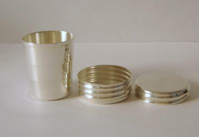 A Cased Sterling Collapsible Travelling Spirit Cup London 1999 Hunting Golf Etc