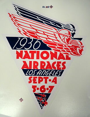 1936 National Air Races Water Transfer Decal- Large Size