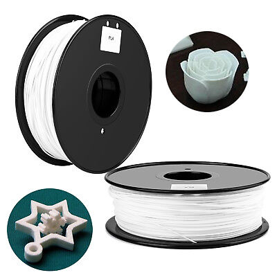 White 3D Printer Filament 1.75mm PLA 1kg 2.2lb 335m For Leapfrog RepRap