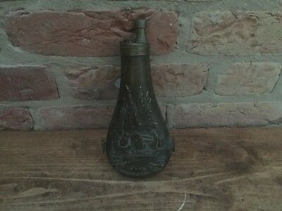 Decorative Copper and Brass Gun Powder Flask made in Italy