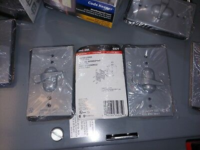 New Lot Of 3 Red Dot Cct Wet Location Switch Covers