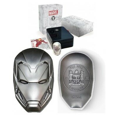 Marvel IRON MAN MASK 2oz pure silver coin - Fiji 5 dollars 2019 5$ silber muenze