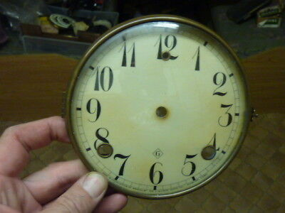 """Old-Antique American """"gilbert"""" Dial-Bezel-Glass Complete"""