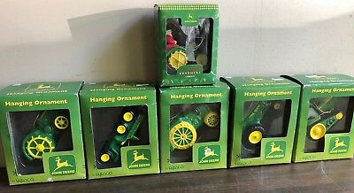 LOT of 6 John Deere Tractor Christmas Ornaments*NEW IN BOX*