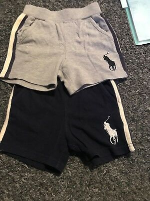 boys genuine ralph lauren shorts with big horse navy red and grey bundle 18month