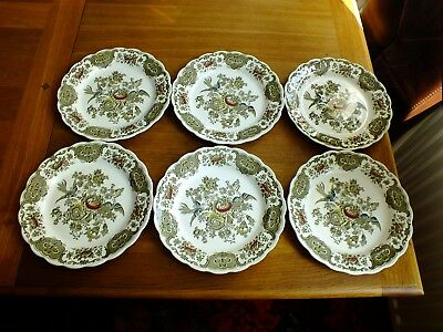 Vintage Ridgway Windsor Dinner Plates X 6