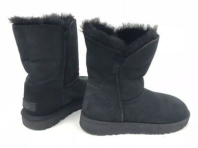 b61596d75e5 UGG AUSTRALIA BAILEY Button II / Classic Cuff Black Boot Womens MISMATCH  1016226