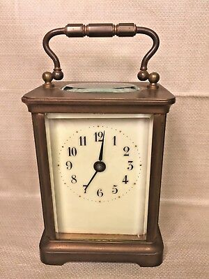 Antique French Carriage Clock Runs, Time Only H&H Distributor