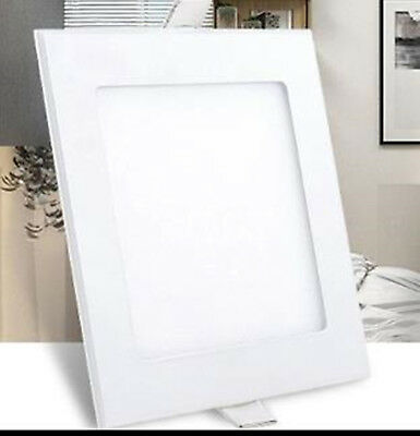 24W 11inch  Square Non-Dimmable LED Recessed Ceiling Panel Light Natural White