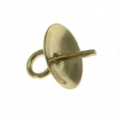 9ct Yellow Solid Gold Pendant Cup & Peg With Top Ring. 4mm cup