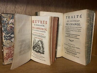 LOT OF TWO ANTIQUE BOOKS 1750s