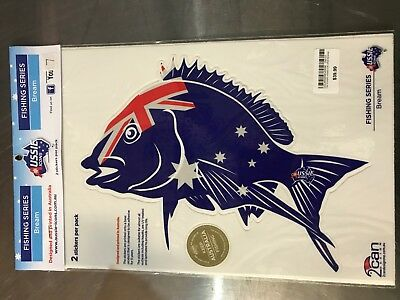 Aussie Icons Fishing Series Bream 2 Stickers per pack RRP $39.99