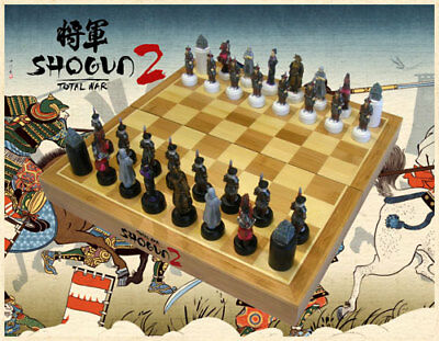 Total War Shogun 2 Chess Set RARE COLLECTIBLE - BRAND NEW IN BOX NEVER USED
