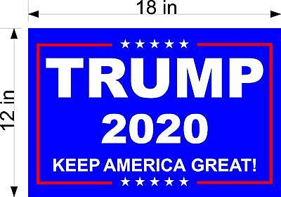 Trump 2020...Keep America Great ! ...Campaign.. Yard Sign Red Wave