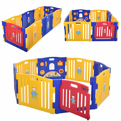 Baby Playpen Kids Panel Safety Play Center Yard Home Indoor Outdoor Extension