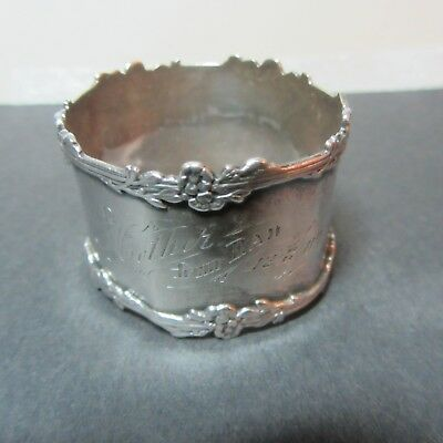 antique Sterling Napkin Ring-GORGEOUS