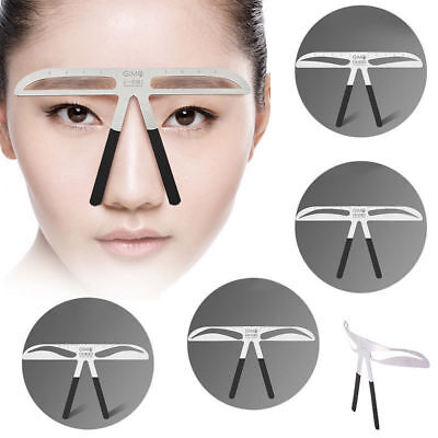 Chic Microblading Permanent Eyebrow Stencil Measure Makeup Tattoo Ruler Template