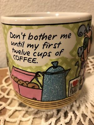 Hallmark Maxine Coffee Mug Don't Bother Me Until My First 12 Cups Of Coffee