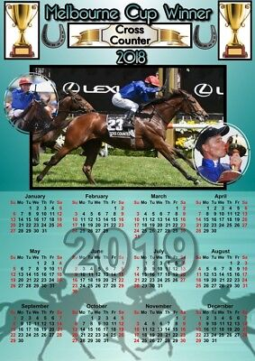 Melbourne Cup 2018 - Winner  Cross Counter - Calendar For 2019